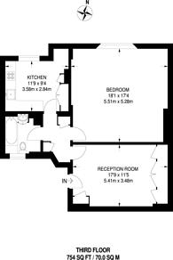 Large floorplan for Kensington Park Gardens, Notting Hill, W11