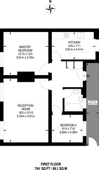 Large floorplan for Turnham Road, Brockley, SE4