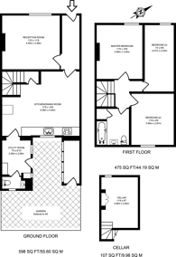 Large floorplan for Marshall Road, Farncombe, GU7
