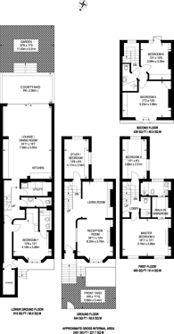 Large floorplan for Bassein Park Road, Wendell Park, W12