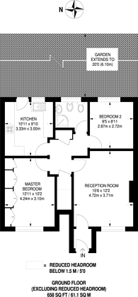 Large floorplan for Broadlawns Court, Harrow Weald, HA3