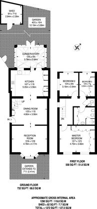 Large floorplan for Ewart Grove, Wood Green, N22