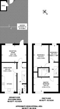 Large floorplan for Gallon Close, Charlton, SE7