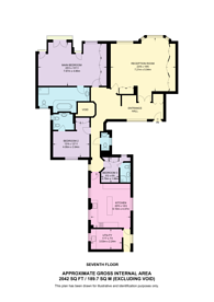 Large floorplan for Princes Gate, Knightsbridge, SW7