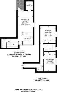 Large floorplan for Elliotts Place, Islington, N1