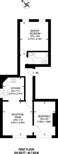 Large floorplan for Baker Street, Enfield Town, EN1