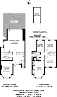Large floorplan for Brookway, Blackheath, SE3