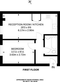 Large floorplan for Boston Place, Regent's Park, NW1