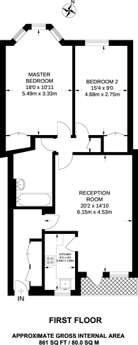 Large floorplan for Hertford Street, Mayfair, W1J