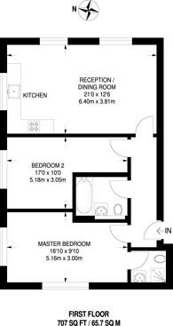 Large floorplan for Windmill Place, Southall, UB2