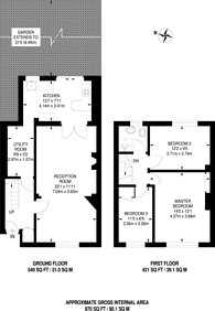 Large floorplan for Woodbank Road, Bromley, BR1