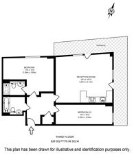 Large floorplan for Hatfield House, Greenwich, SE10