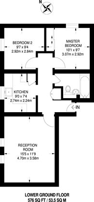 Large floorplan for Anerley Park, Crystal Palace, SE20