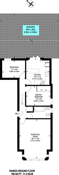 Large floorplan for Crystal Palace Park Road, Crystal Palace, SE26