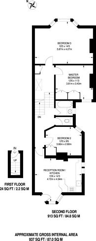 Large floorplan for Fuham Palace Road, Hammersmith, W6
