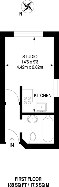 Large floorplan for Ferrers Road, Streatham, SW16