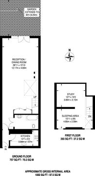 Large floorplan for Chiswick, Chiswick, W4