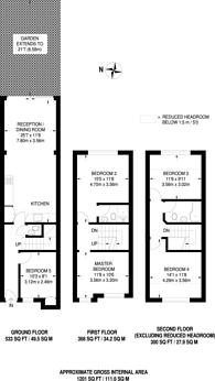 Large floorplan for Acton, Acton, W3