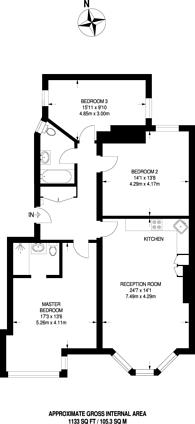 Large floorplan for Esmond Gardens, Bedford Park, W4