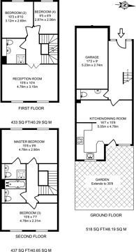 Large floorplan for Grimsby Grove, Gallions Reach, E16