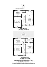 Large floorplan for Longmead Road, Tooting, SW17
