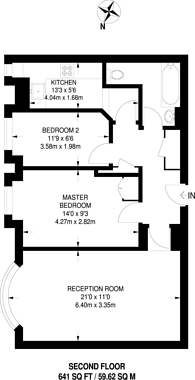 Large floorplan for Fulham High Street, Fulham, SW6
