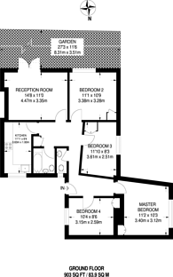 Large floorplan for Devas Street, Mile End, E3
