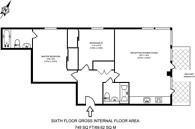 Large floorplan for Provost Street, Hackney, N1