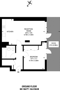 Large floorplan for West Parkside, Greenwich Millennium Village, SE10
