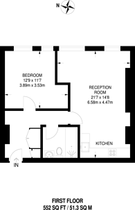 Large floorplan for Henriques Street, Aldgate, E1