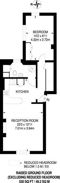 Large floorplan for Denbigh Street, Pimlico, SW1V