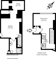Large floorplan for Gilbert Place, Bloomsbury, WC1A