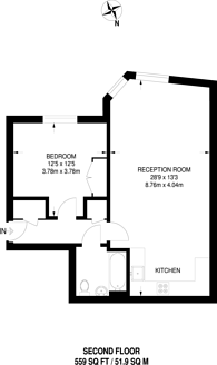 Large floorplan for Petersham Road, Richmond, TW10