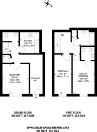 Large floorplan for Onyx Mews, Stratford, E15
