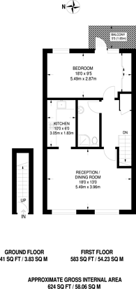 Large floorplan for Bowmans Mews, Tower Hill, E1