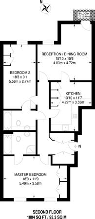 Large floorplan for Summer Gardens, West Ruislip, UB10