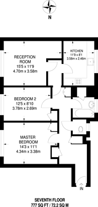 Large floorplan for Queensdale Crescent, Notting Hill, W11