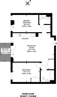 Large floorplan for Napa Close, Stratford, E20