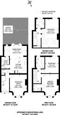 Large floorplan for Ellesmere Road, Dollis Hill, Dollis Hill, NW10