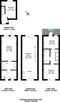 Large floorplan for Capstan Square, Canary Wharf, E14