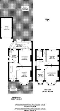 Large floorplan for Kendrey Gardens, Twickenham, TW2