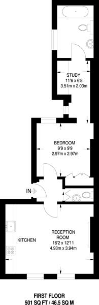 Large floorplan for Guilford Street, Bloomsbury, WC1N
