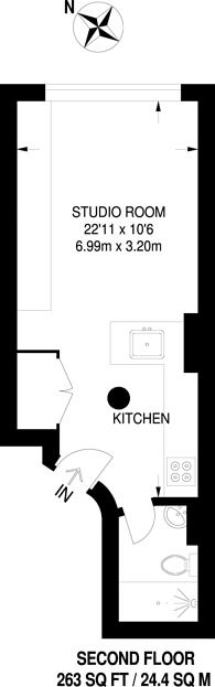 Large floorplan for Charterhouse Square, City, EC1M