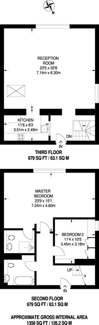 Large floorplan for Crescent Road, Beckenham, BR3