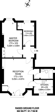 Large floorplan for Thicket Road, Crystal Palace, SE20