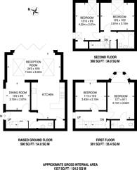 Large floorplan for Rosendale Road, West Dulwich, SE21