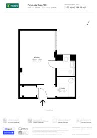 Large floorplan for Chatsworth Court, Kensington, W8