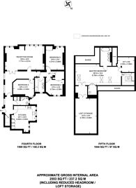 Large floorplan for Earsby Street, Olympia, W14