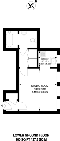Large floorplan for Cambalt Road, Putney, SW15