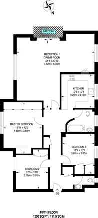 Large floorplan for Hillcrest Road, Ealing, W5